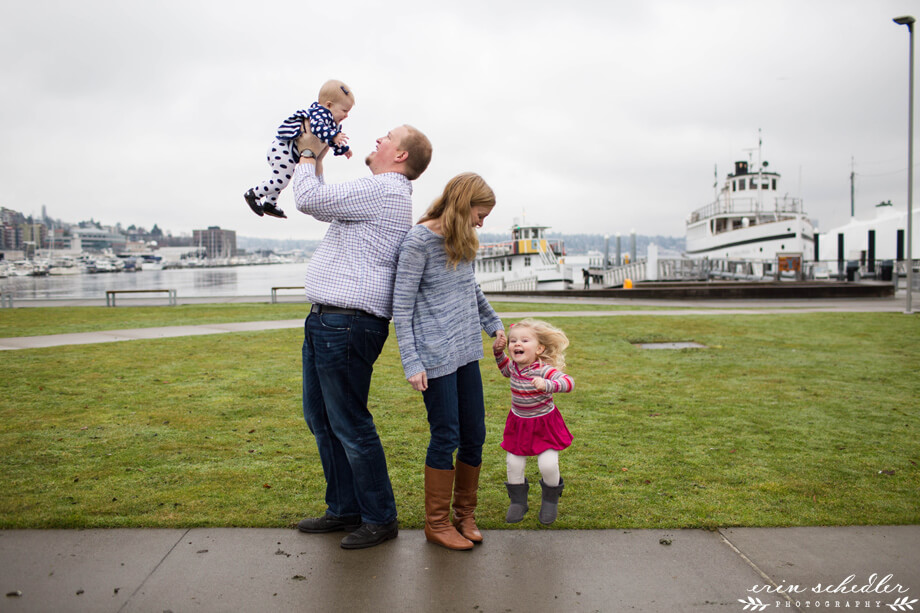 Seattle family photography by photographer Erin Schedler keywords: candid , natural light, center for wooden boats, 2015, lifestyle