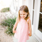girl pink dress summer