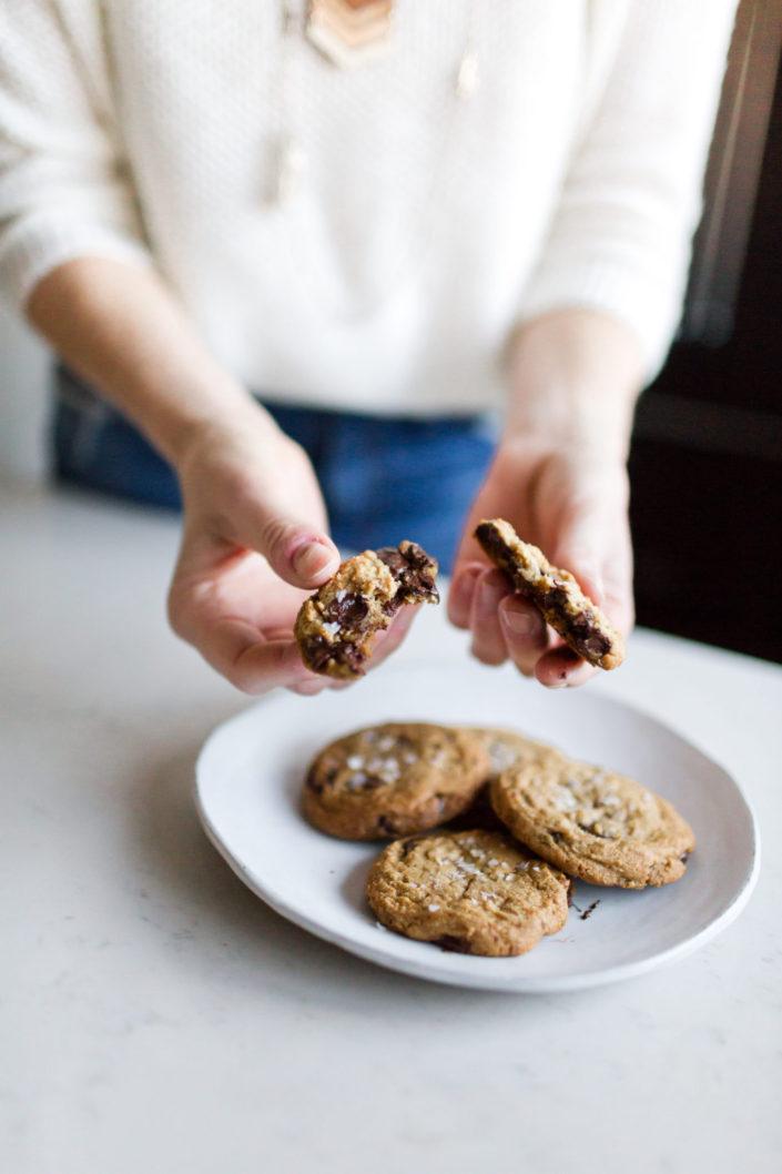 chocolate chip cookie split