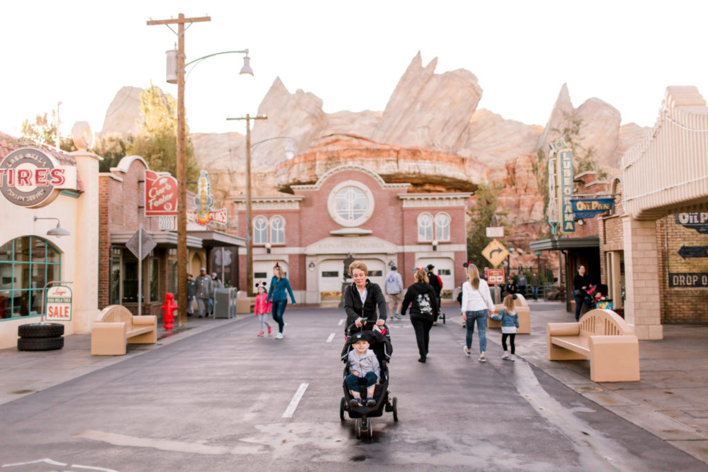 walking through cars land