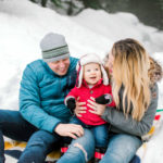 snow family photography