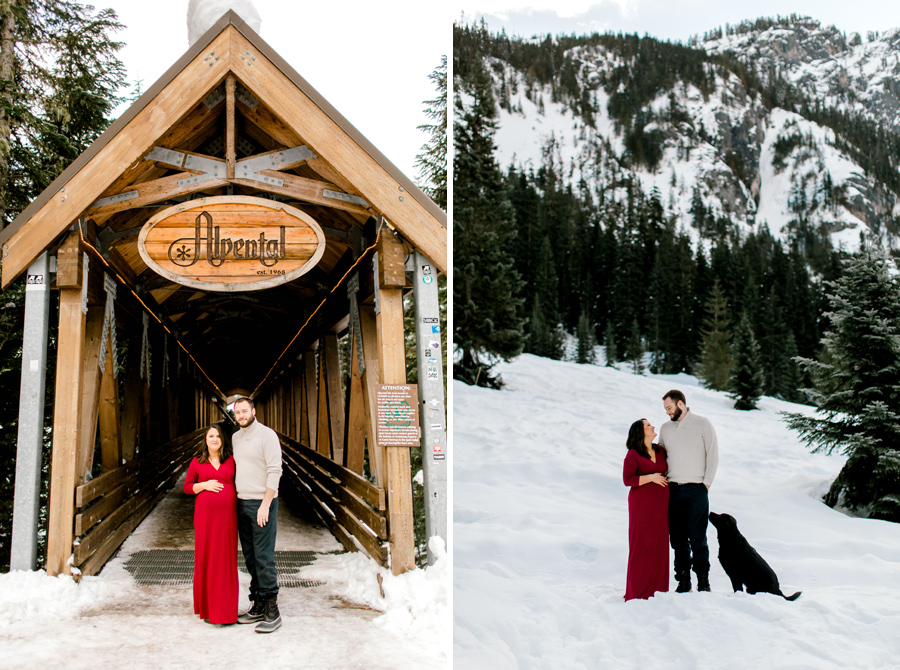 alpental maternity snow session
