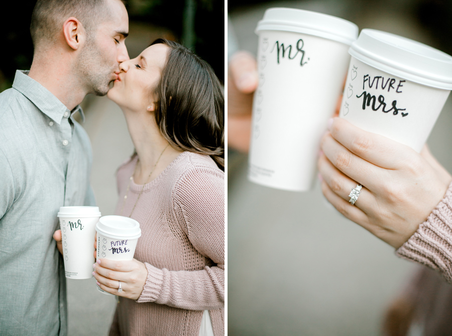 Starbucks cup engagement