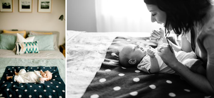 Portland home newborn photos