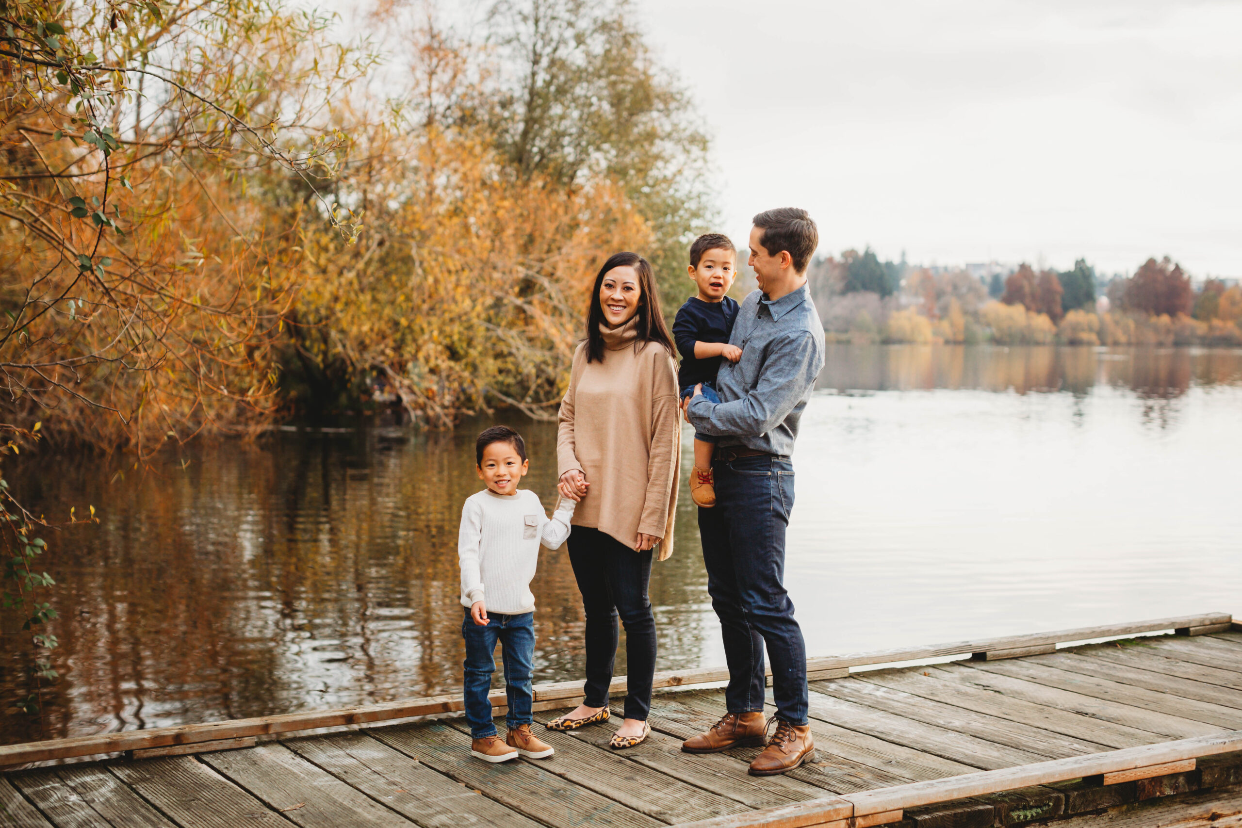 fall family photos greenlake seattle