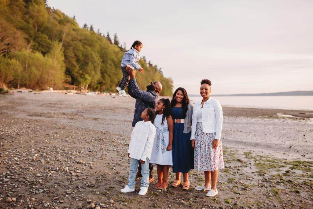 sunset beach family photos